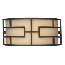 Dar Lighting Tumola 2 Light Bronze Wall Bracket