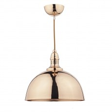 Dar Lighting Yoko 1 Light Copper Pendant