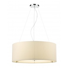 Dar  Zaragoza 6 Light Pendant Cream 90CM