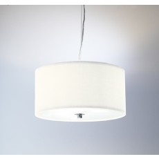 Dar  Zaragoza 3 Light Pendant Cream 600MM