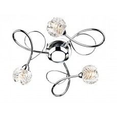 Dar  Zelda 3 Light Polished Chrome Flush Light