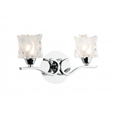 Dar  Zola Double Polished Chrome Wall Bracket
