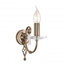 Elstead Aegean 1 Light Aged Brass Wall Light