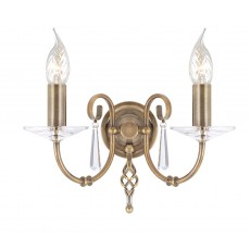 Elstead Aegean 2 Light Aged Brass Wall Light