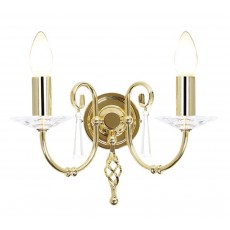 Elstead Aegean 2 Light Polished Brass Wall Light