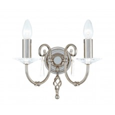 Elstead Aegean 2 Light Polished Nickel Wall Light