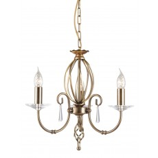 Elstead Aegean 3 Light Aged Brass Chandelier