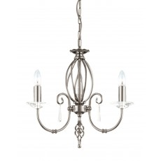 Elstead Aegean 3 Light Polished Nickel Chandelier Light