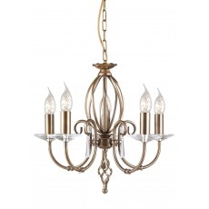 Elstead Aegean 5 Light Aged Brass Chandelier Light