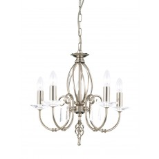 Elstead Aegean 5 Light Polished Nickel Chandelier Light