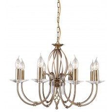 Elstead Aegean 8 Light Aged Brass Chandelier Light