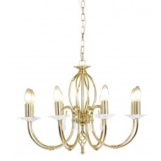 Elstead Aegean 8 Light Polished Brass Chandelier Light
