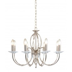Elstead Aegean 8 Light Polished Nickel Chandelier Light