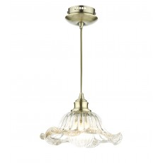 Dar Aileen 1 Light Antique Brass Pendant Light