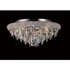 Diyas Alexandra Ceiling 7 Light Polished Chrome/Crystal
