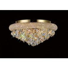 Diyas Alexandra Ceiling 6 Light French Gold/Crystal