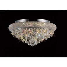 Diyas Alexandra Ceiling 6 Light Polished Chrome/Crystal
