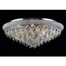 Diyas Alexandra Ceiling 16 Light Polished Chrome/Crystal
