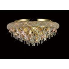 Diyas Alexandra Ceiling 7 Light French Gold/Crystal