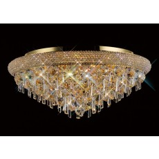 Diyas Alexandra Ceiling 9 Light French Gold/Crystal