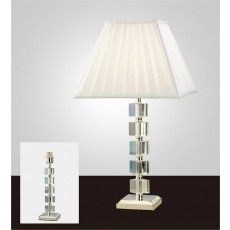 Diyas Alina Crystal Table Lamp Without Shade 1 Light Silver Finish