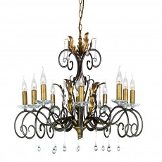 Elstead Amarilli 10 Light Bronze/Gold Chandelier Light