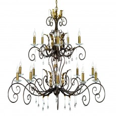 Elstead Amarilli 15 Light Bronze/Gold Chandelier Light