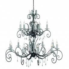 Elstead Amarilli 15 Light Black/Silver Chandelier Light