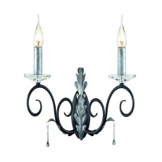 Elstead Amarilli 2 Light Black/Silver Wall Light