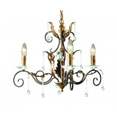 Elstead Amarilli 3 Light Bronze/Gold Chandelier Light