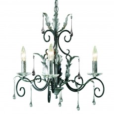 Elstead Amarilli 3 Light Black/Silver Chandelier Light