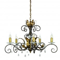 Elstead Amarilli 5 Light Bronze/Gold Chandelier Light