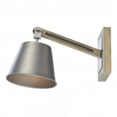 Dar Arken 1 Light Wall Bracket Raw/Wood Light Fitting