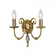 Elstead Artisan 2 Light Aged Brass Wall Light