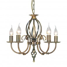 Elstead Artisan 5 Light Aged Brass Chandelier