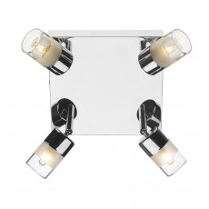 Dar Artemis 4 Light Plate Polished Chrome IP44 Light
