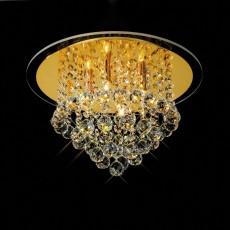 Diyas Atla Ceiling 4 Light French Gold/Crystal