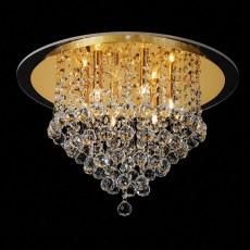 Diyas Atla Ceiling 6 Light French Gold/Crystal