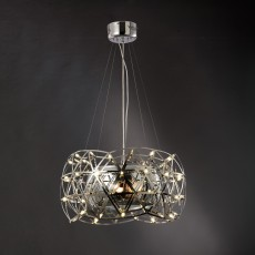 Diyas Atria Pendant 3 Light With LEDs And Remote Control Stainless Steel
