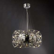 Diyas Atria Pendant 4 Light With LEDs And Remote Control Stainless Steel
