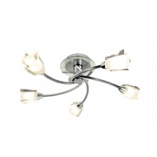 Dar Austin 5 Light Polished Chrome Semi Flush Light