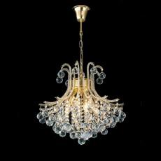 Diyas Bask Pendant Round 4 Light French Gold/Crystal