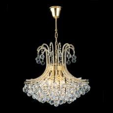 Diyas Bask Pendant Round 6 Light French Gold/Crystal