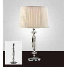 Diyas Bella Crystal Table Lamp Without Shade 1 Light Silver Finish