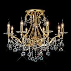 Diyas Bianco Ceiling 8 Light French Gold/Crystal