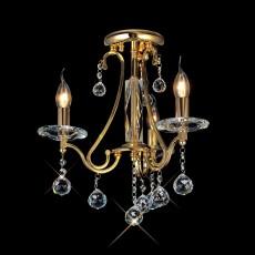 Diyas Bianco Ceiling 3 Light French Gold/Crystal