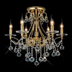 Diyas Bianco Ceiling 6 Light French Gold/Crystal