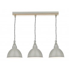 Dar Blyton 3 Light Cream Shades Bar Pendant Light