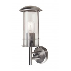 Elstead Bruges 1 Light Stainless Steel Wall Lantern Light