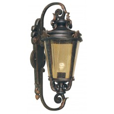 Elstead Baltimore 1 Light Old Bronze Large Wall Lantern Light